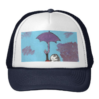 Cantando en las nubes, chica gótico del paraguas gorros