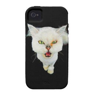 Cantankerous, cute crazy cat Case-Mate iPhone 4 cover
