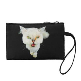 Cantankerous, cute crazy cat coin purse