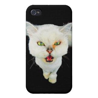 Cantankerous, cute crazy cat iPhone 4/4S cases