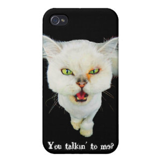 Cantankerous, cute crazy cat cases for iPhone 4