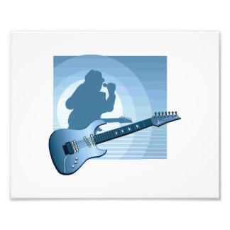 cantante blue.png de la guitarra eléctrica fotografía
