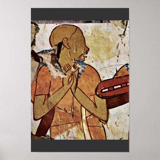 Cantante ciego por DES Horemhab de Maler Der Grabk Poster