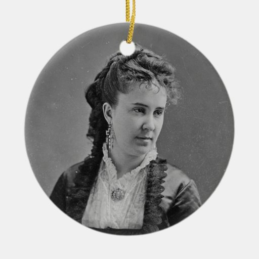 Cantante Clara Louise Kellogg de la ópera de Adorno Navideño Redondo De Cerámica