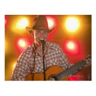 Cantante de country tarjeta postal