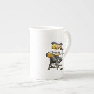 Cantante de country taza de porcelana