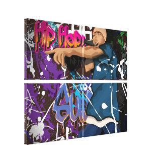 Cantante de Hip Hop Impresión En Lienzo Estirada