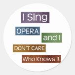 Cantante de la ópera pegatina