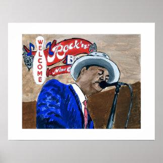 Cantante de los azules del Fest del jazz Poster