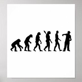 Cantante del golpeador de la evolución póster