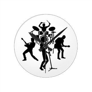 Cantante del guitarrista del batería de la banda reloj de pared