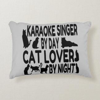 Cantante del Karaoke del amante del gato Cojín
