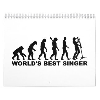 Cantante del mundo de la evolución el mejor calendario de pared