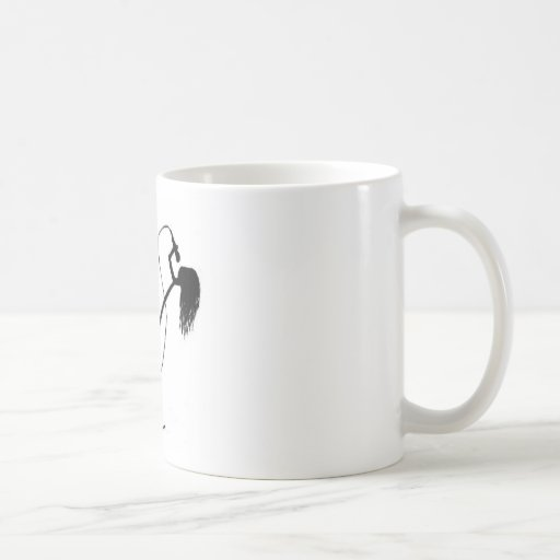 Cantante del palillo taza básica blanca