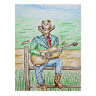 Cantante del vaquero postales