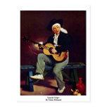 Cantante español de Manet Eduardo Tarjetas Postales