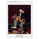 Cantante español de Manet Eduardo Tarjetón