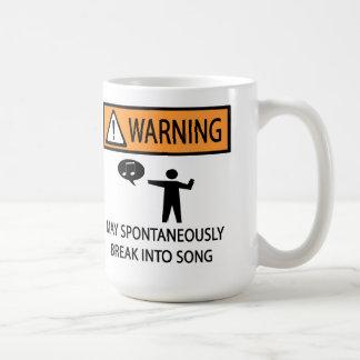 Cantante espontáneo taza de café