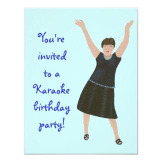 """Cantante, invitaciones de la fiesta de cumpleaños invitación 4.25"""" x 5.5"""""""
