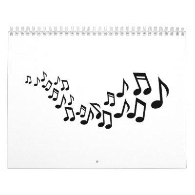 Cantante mezclado de las notas calendarios