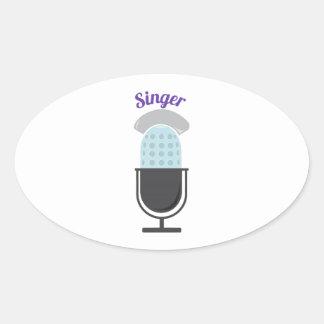 Cantante Pegatina Ovalada