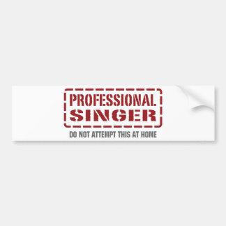 Cantante profesional pegatina de parachoque