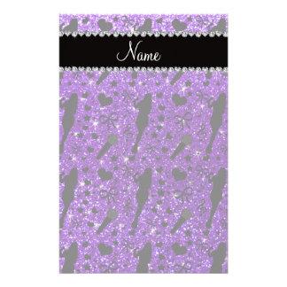 Cantante púrpura personalizado del brillo del añil  papeleria