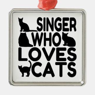 Cantante que ama gatos ornamentos de reyes