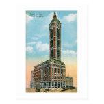 Cantante que construye NYC Tarjetas Postales