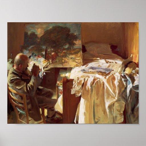 Cantante Sargent- de Juan un artista en su estudio Poster