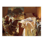 Cantante Sargent- de Juan un artista en su estudio Postal