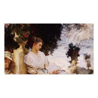 Cantante Sargent- en el jardín, Corfú de Juan Tarjetas De Visita