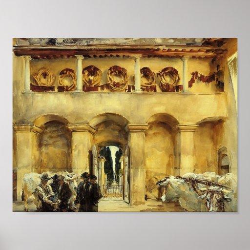 Cantante Sargent- Florencia de Juan. Torre Galli Póster