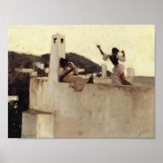 Cantante Sargent- Rosina, Capri de Juan Poster