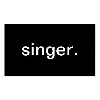 Cantante Tarjetas Personales