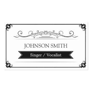 Cantante/vocalista - marco con clase del vintage tarjetas de visita