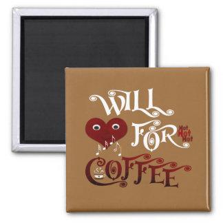 Cantará para el café imán cuadrado