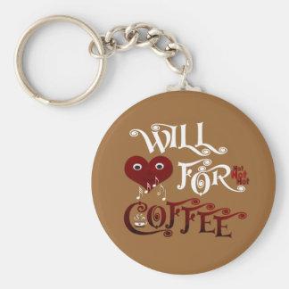Cantará para el café llavero redondo tipo pin