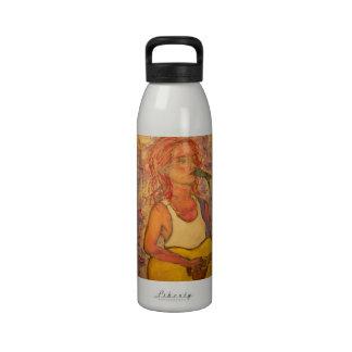 cantatriz botella de agua