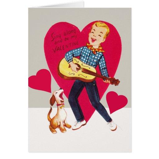 Cante adelante y sea mi tarjeta del día de San Val