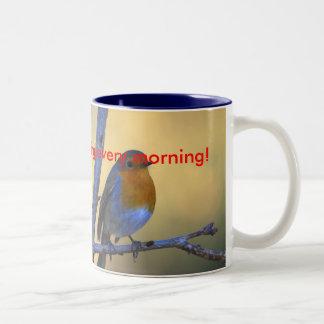 ¡Cante cada mañana! taza de café