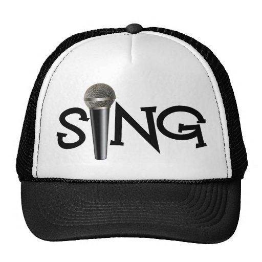 Cante con el micrófono gorros bordados