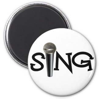 Cante con el micrófono imán de nevera