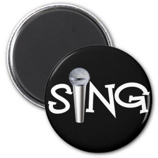 Cante con el micrófono imanes de nevera