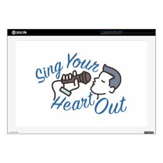 Cante el corazón hacia fuera 43,2cm portátil calcomanía