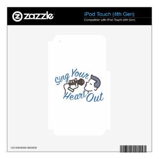 Cante el corazón hacia fuera iPod touch 4G calcomanías