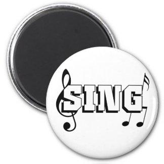 Cante el diseño con las notas de la música imán de frigorifico