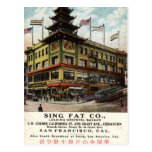 Cante el vintage gordo 1915 de Chinatown San Franc Tarjeta Postal