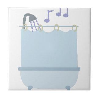 Cante en ducha azulejo cuadrado pequeño