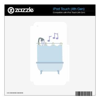 Cante en ducha iPod touch 4G calcomanías